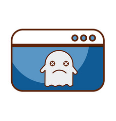 template webpage with ghost vector image