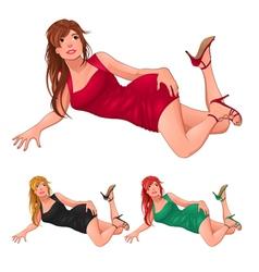 Three kind of ladies vector