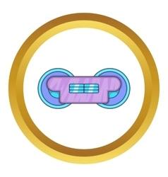 Train wheels icon vector
