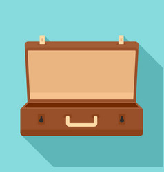 travel case icon flat style vector image