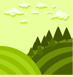 Tuscan fields landscape vector