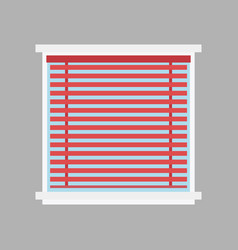 Type of house windows jalousie element isolated vector