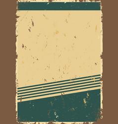 vintage blank template vector image