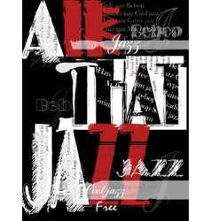 Vintage Jazz Poster Background vector image