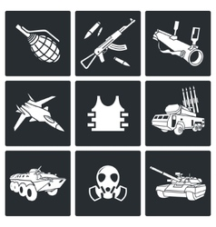 Weapons Icon set vector image