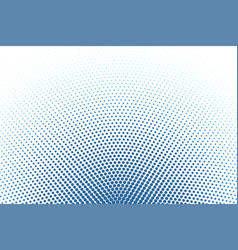 White background with blue round halftone pattern vector