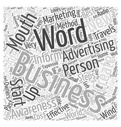 Word Of Mouth Advertising Steps To Create vector