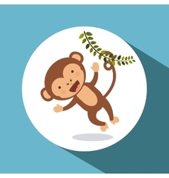 cute monkey design vector image