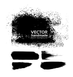 Handmade texture background from brush strokes vector image