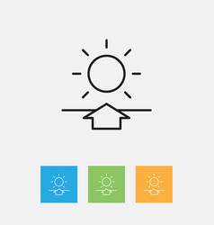 Of air symbol on sunrise vector
