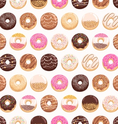 Yummy donuts seamless pattern vector image vector image