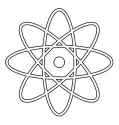 Atom the black color icon vector