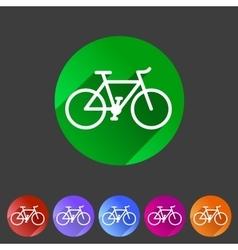 bicycle icon sign symbol logo label set vector image