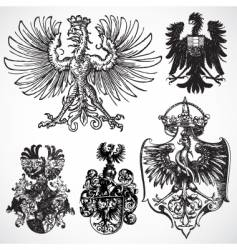 eagle gothic ornaments vector image