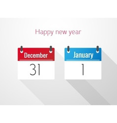 Fat Calendar From December to January vector image vector image
