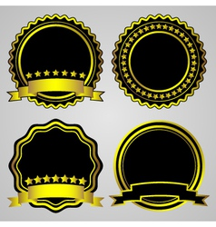 gold-framed labels set vector image vector image