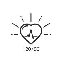 Good health outline icon blood pressure vector image