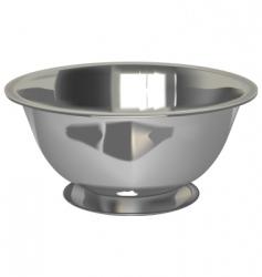 metal bowl vector image vector image