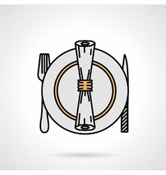 Tableware flat color icon vector image