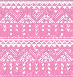 Tribal pattern pink aztec print - old grunge vector image vector image