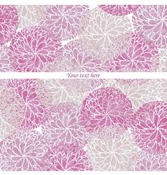 Vintage Flowers Pattern Card vector image vector image