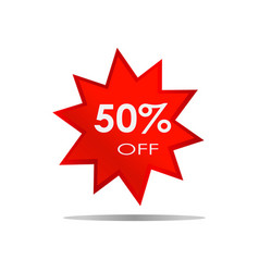 50 off sale discount banner special offer vector image vector image