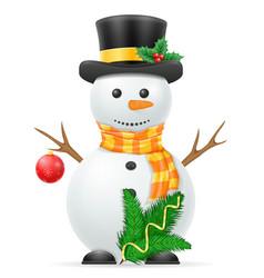 christmas snowman stock vector image vector image