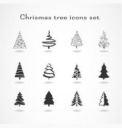 Christmas tree Set vector image vector image