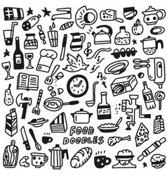 Food - doodles vector
