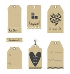 gift tags or labels set vector image vector image