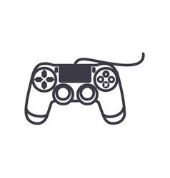 joystick console line icon sign vector image