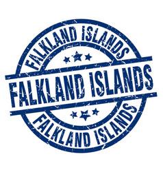 Falkland islands blue round grunge stamp vector