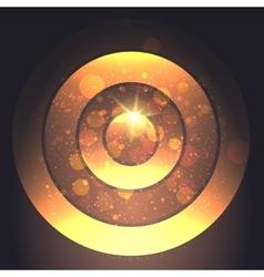 Golden Circular Backround vector image vector image
