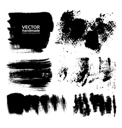 Handdrawing textured brush strokes vector image vector image