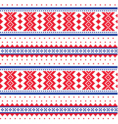 winter cross-stitch pattern sami folk art vector image