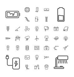 37 electric icons vector