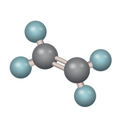 a molecule of ethylene vector image