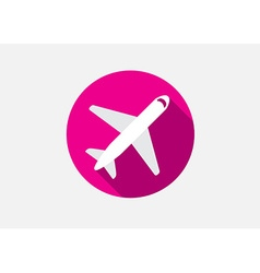 Aircraft or Airplane Icon Flat Minimal Silhouette vector image
