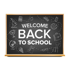 back to school banner black classroom vector image
