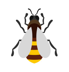 Bee icon flat style vector