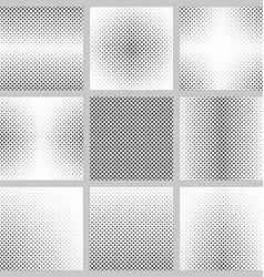 Black and white pentagram pattern design set vector image
