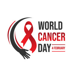 campaign day of cancer world vector image