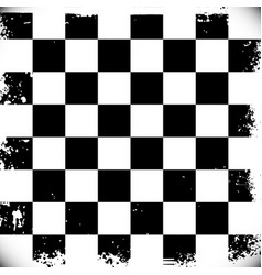 checkered background with grungy edges vector image