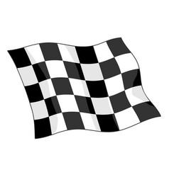 checkered motorsports waving flag vector image