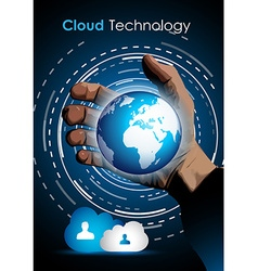 Cloud technology concept image to show data vector image