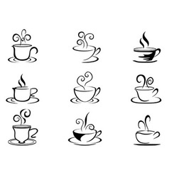 coffee cup shapes vector image