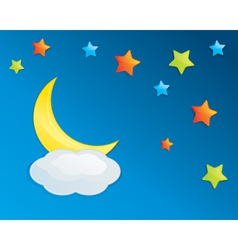 Colorful Night Sky Eps10 vector