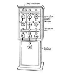 Control pedestal vintage vector
