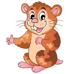 Cute cartoon hamster vector