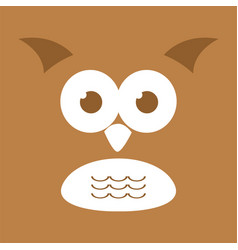 Cute owl face background vector